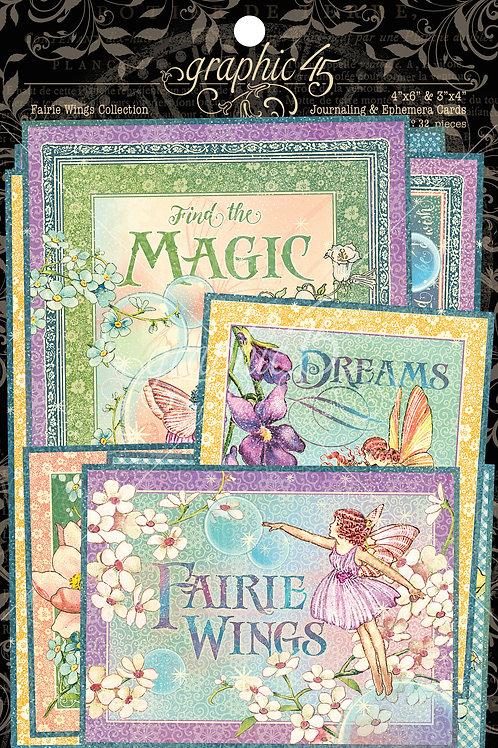Graphic 45-Fairie Wings-Ephemera Journaling Cards