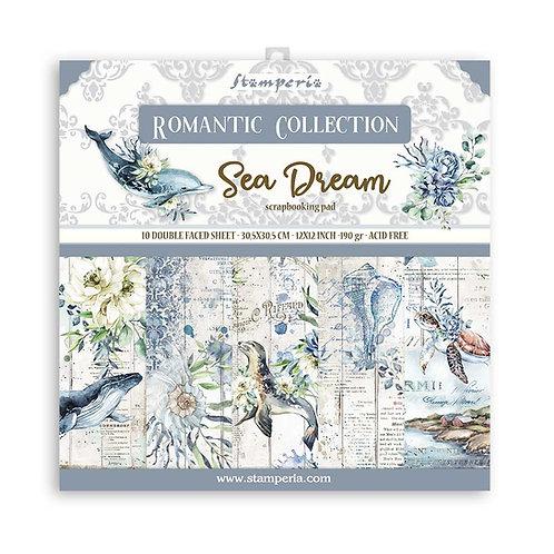 Stamperia - Sea Dream - 12x12 Paper Pad - 10 Sheets - 22 Designs