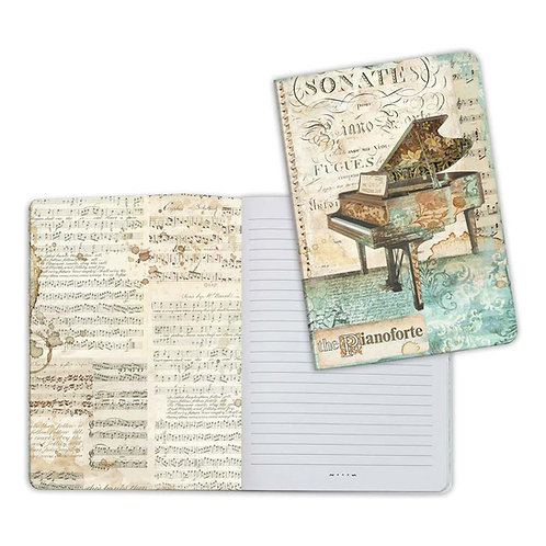Music-Piano Notebook by Stamperia-6x8.25-Item #ENBA5012