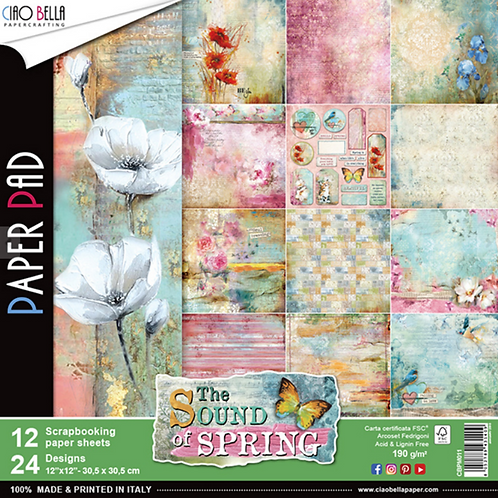 Sound of Spring by Ciao Bella-12-12x12 Double-Side Design Papers-CBPM011