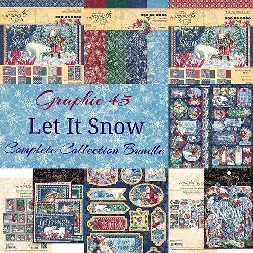 Graphic 45 -  Let it Snow - Complete Collection Bundle