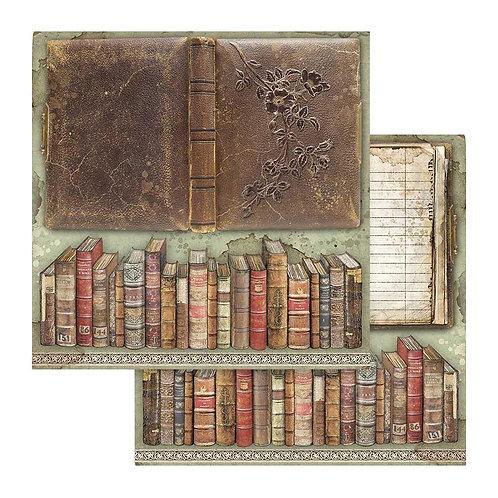 Stamperia-Lady Vagabond - Vintage Books - 2 - 12x12 Single Sheets