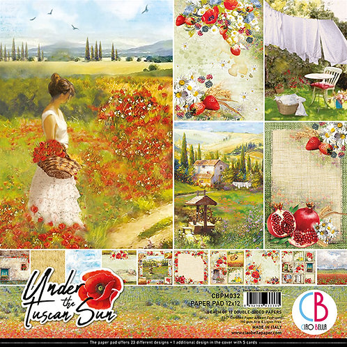 Under The Tuscan Sun by Ciao Bella-12-12x12 Double-Sided Papers-CBPM032