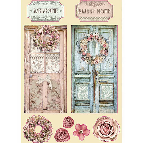 PRE ORDER - Stamperia - Passion - Home - Wooden Shapes