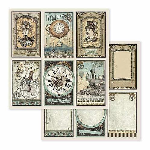 Stamperia-Voyages Fantastiques Cards - 2 - 12x12 Single Sheets-Item #SBB601