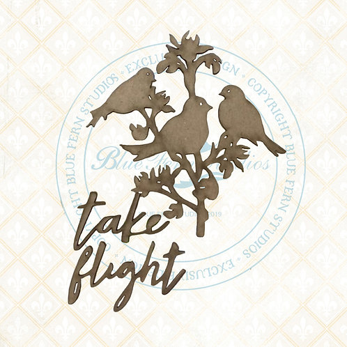 Blue Fern - Bird Waltz - Chipboard - Take Flight