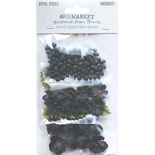 49 and Market - Royal Posies - Midnight - 49 Pieces