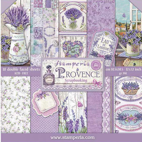 Provence by Stamperia - 10 - 12x12 Double-Sided Design Papers