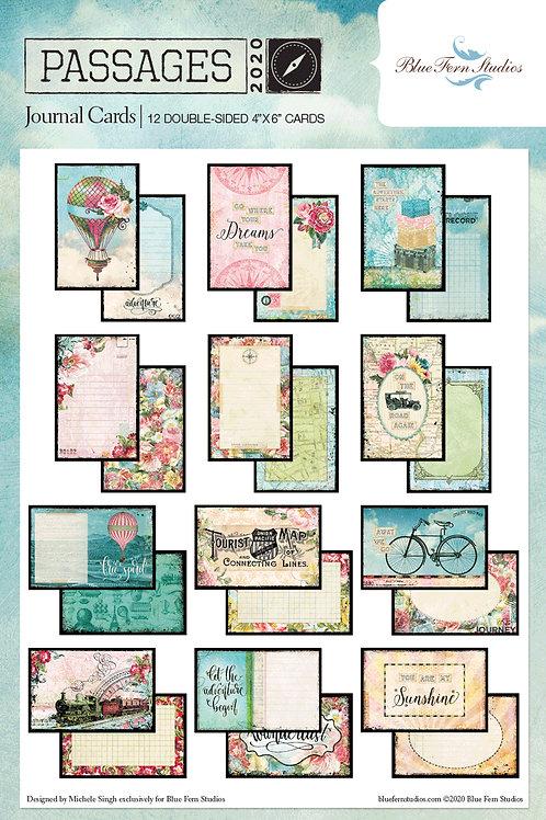 Blue Fern - Passages - Ephemera Journal Cards
