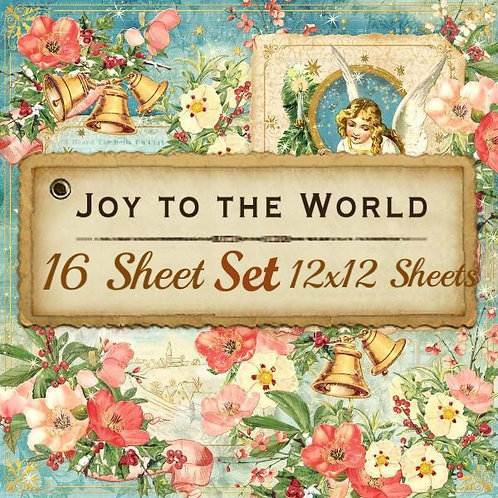 G 45-Joy To The World-16 Single 12x12 Double-Sided Sheets (No Cover)