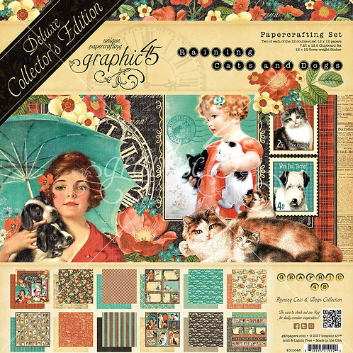 Graphic 45-Raining Cats and Dogs Deluxe Collector's Edition