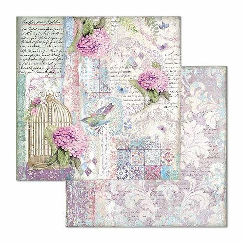 Stamperia-Hortensia Cage & Birds-2 - 12x12 Single Sheets-Item #SBB695