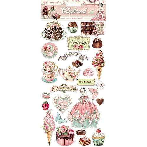 Stamperia - Sweety - Adhesive Chipboard