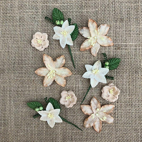 49 and Market-Stargazers Paper Flowers-Cashmere