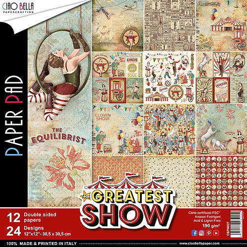 Greatest Show by Ciao Bella-12-12x12 Double-Sided Papers-CBPM027