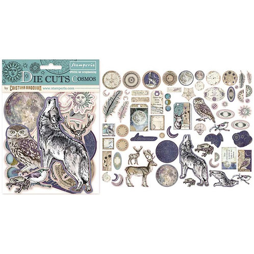Stamperia-Cosmos-Die Cuts - 66 Chipboard Pieces - Item #DFLDC06