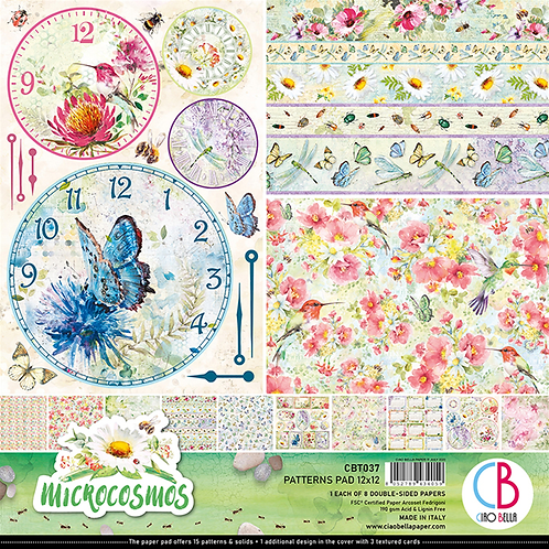 Microcosmos by Ciao Bella-8-12x12 Double-Sided Papers-CBT037