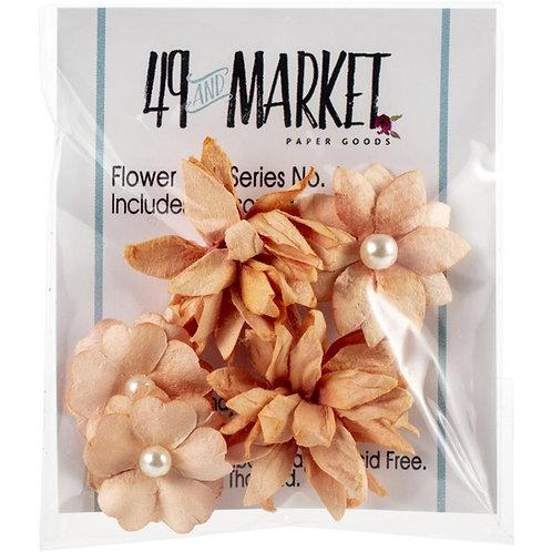 49 and Market-Mini Flower Series-Tangerine-Item #MS88374