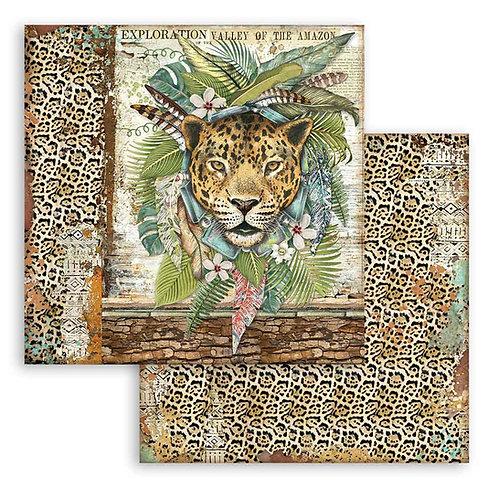 Stamperia - Amazonia - Jaguar - 2 - 12x12 Single Sheets