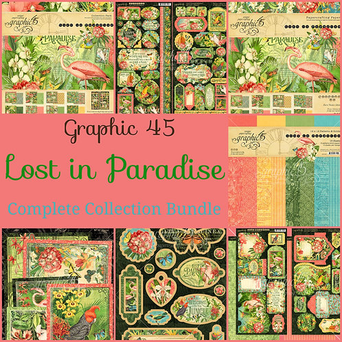 Graphic 45-Lost in Paradise-Complete Collection Bundle