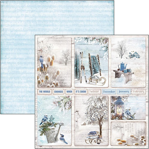 Ciao Bella-Winter Cards - 2 - 12x12 Single Sheets-Item #CBSS083