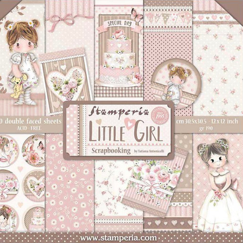 Little Girl by Stamperia - 12 x 12 Paper Pack - Item #SBBL67