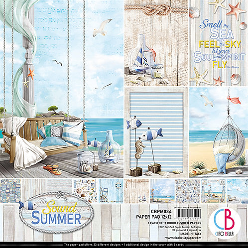 Sound of Summer by Ciao Bella-12-12x12 Double-Sided Papers-CBPM034