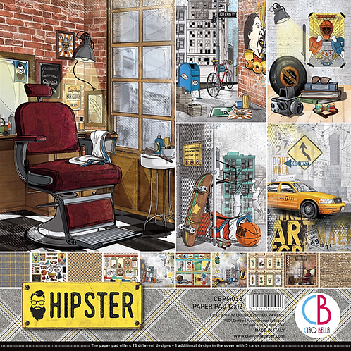 Hipster by Ciao Bella-12-12x12 Double-Sided Papers-CBPM035
