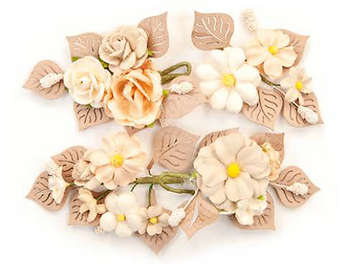 Pretty Pale Flowers - Rustic Floral - Item #637538