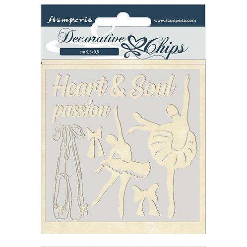 Stamperia - Decorative Chips - Passion - Dancer
