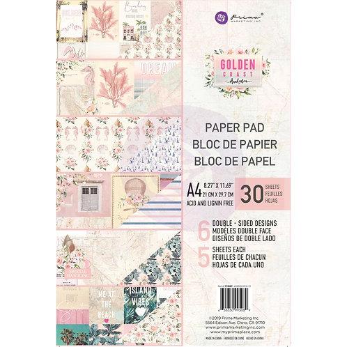 Prima-Golden Coast Double-Sided Paper Pad A4 30/Pkg-Item #995089