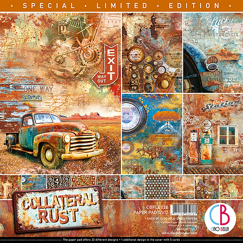 Collateral Rust by Ciao Bella-12-12 x 12 Double-Sided Design Papers