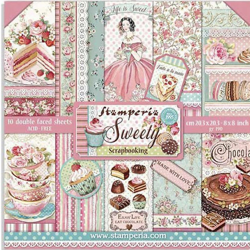 Stamperia - Sweety  8x8 Paper Pack - 10 Sheets - 22 Designs