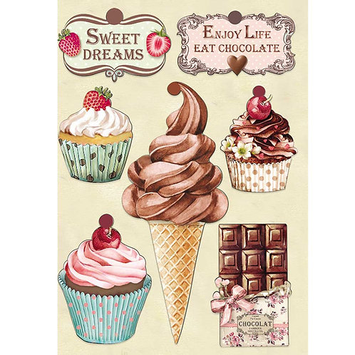 Stamperia - Sweety - Wooden Shapes A5 - Item #KLSP078
