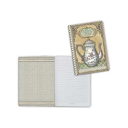 Alice-Teapot Notebook by Stamperia-4x5.75-Item #ENBA6005