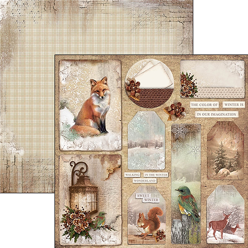 Ciao Bella-Colors of Winter Cards & Tags - 2 - 12x12 Single Sheets-Item #CBSS058