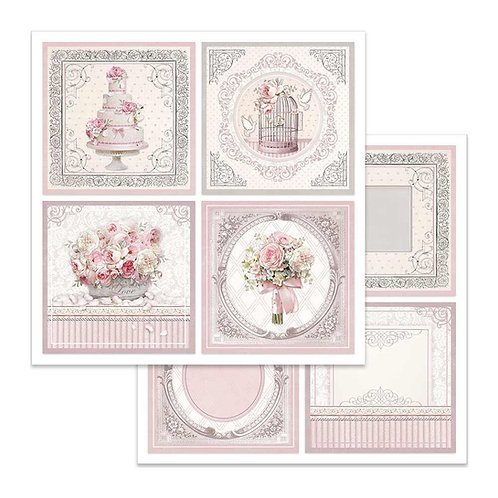Stamperia-Wedding Cards - 2 - 12x12 Single Sheets-Item #SBB626