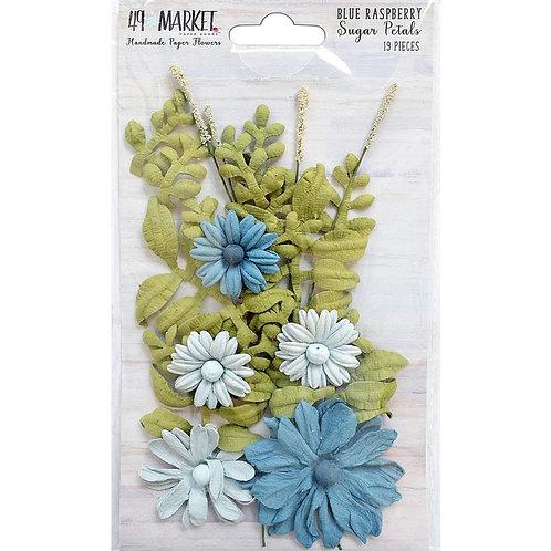 49 and Market-Sugar Petals-Blue Raspberry-Item #SPF32372