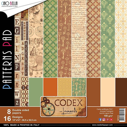 Codex Leonardo by Ciao Bella-Double-8- 12x12 Double-Sided Papers-16 Dsgns-CBT010