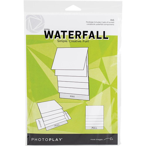 PhotoPlay - Maker Series - 4 x 6 Mechanical Waterfall Kit - White