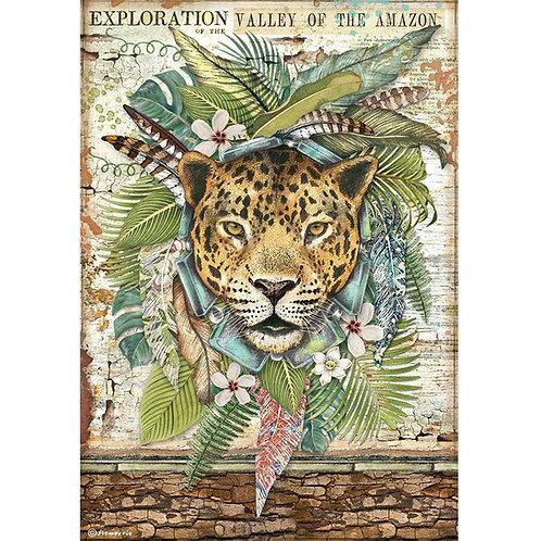 PRE ORDER - Stamperia - Amazonia - Jaguar - Rice Paper A4
