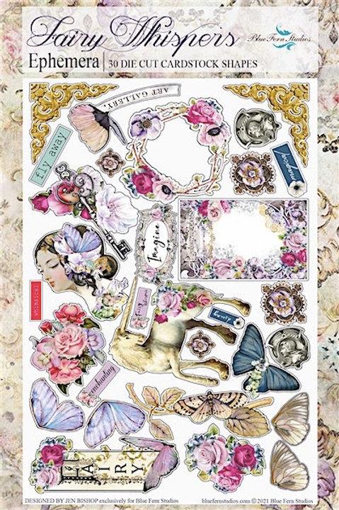 Blue Fern - Fairy Whispers - Ephemera Die Cuts Pack #1  - 30 Pieces