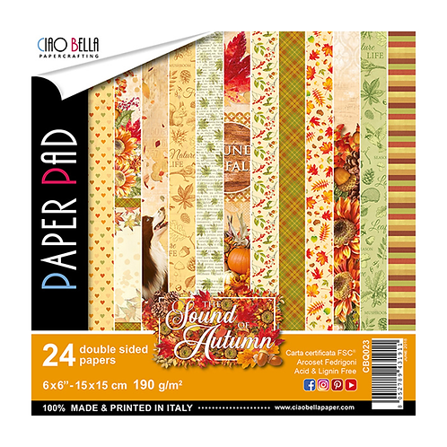 Sound of Autumn by Ciao Bella-24 Double-Sided 6x6 Sheets-CBQ023