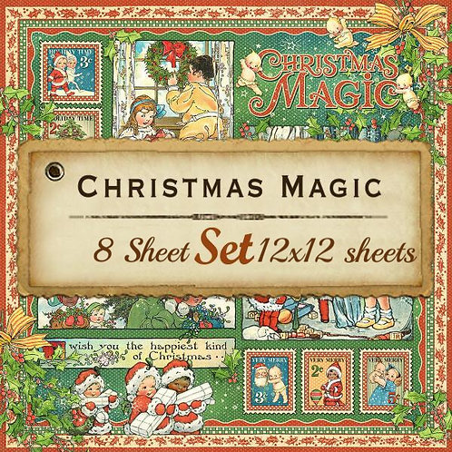 Graphic 45-Christmas Magic-12x12 Papers-8 Single Double-Sided Sheets (No Cover)