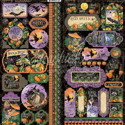 PRE ORDER Graphic 45-Midnight Tales - 2 - 6 x 12 Sticker Sheets