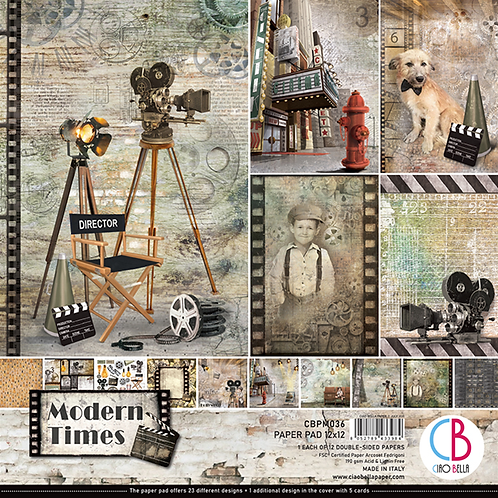 Modern Times by Ciao Bella-12-12x12 Double-Sided Papers-CBPM036