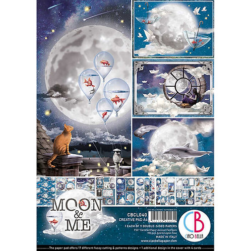 Moon & Me by Ciao Bella-9 Double-Side Papers in the A4 Format-CBCL040