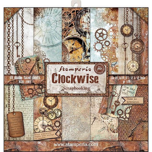 Clockwise by Stamperia - 12 x 12 Paper Pack