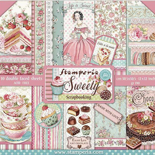 Stamperia - Sweety - 12x12 Paper Pad - 10 Sheets - 22 Designs