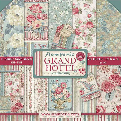 Grand Hotel by Stamperia - 12x12 Paper Pad - 10 sheets - 20 Designs
